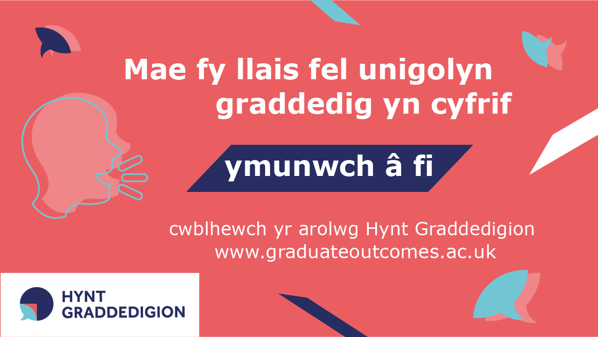 My graduate voice counts image in Welsh for Twitter