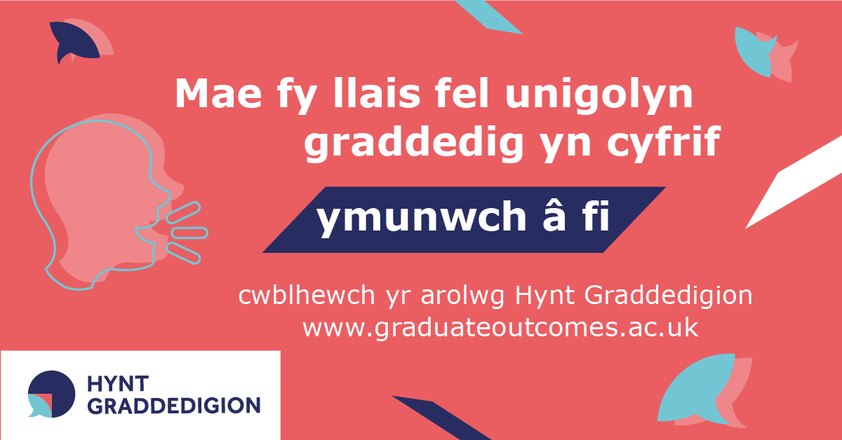 My graduate voice counts image in Welsh for Facebook