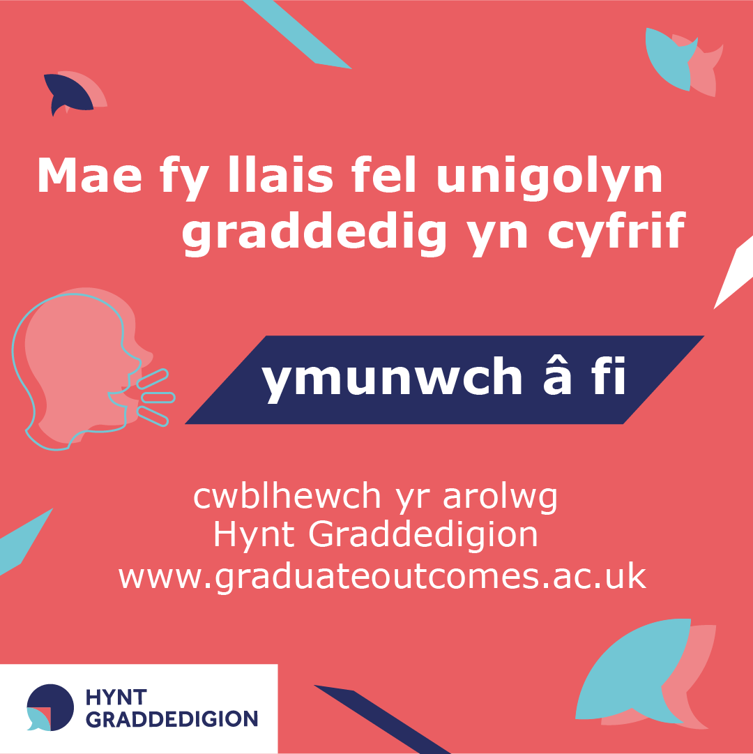 My graduate voice counts image in Welsh for Instagram